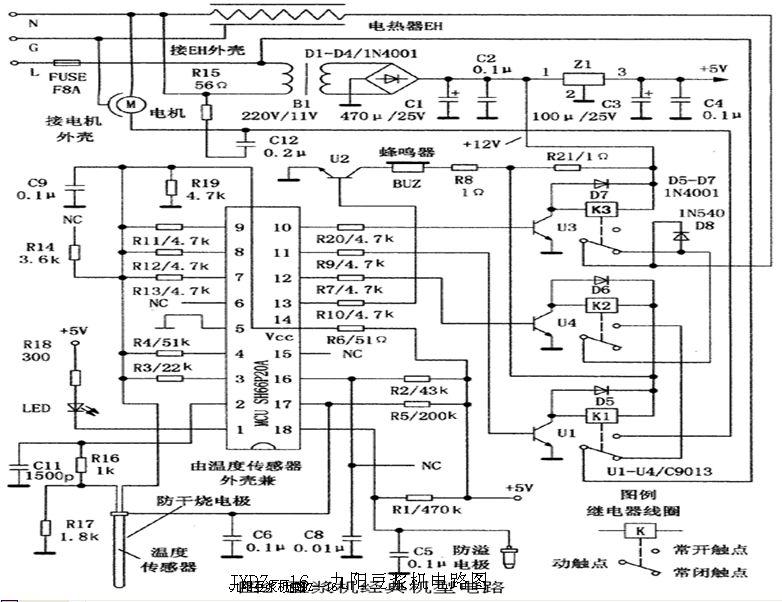 九阳豆浆机原理图