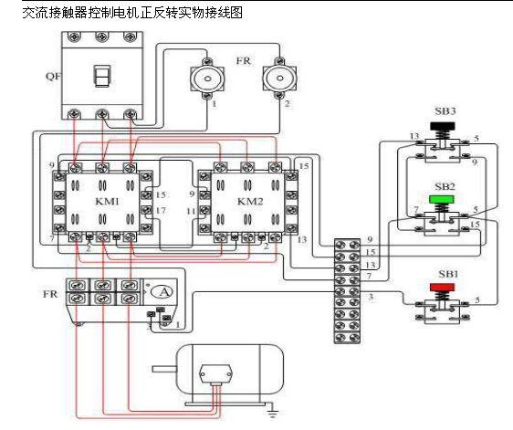 跪求接触器互锁正反转电路接线图