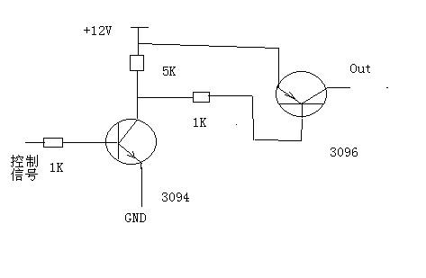 三极管来控制12v电源的断开和闭合, 最好能用3904 和3906 给出电路图