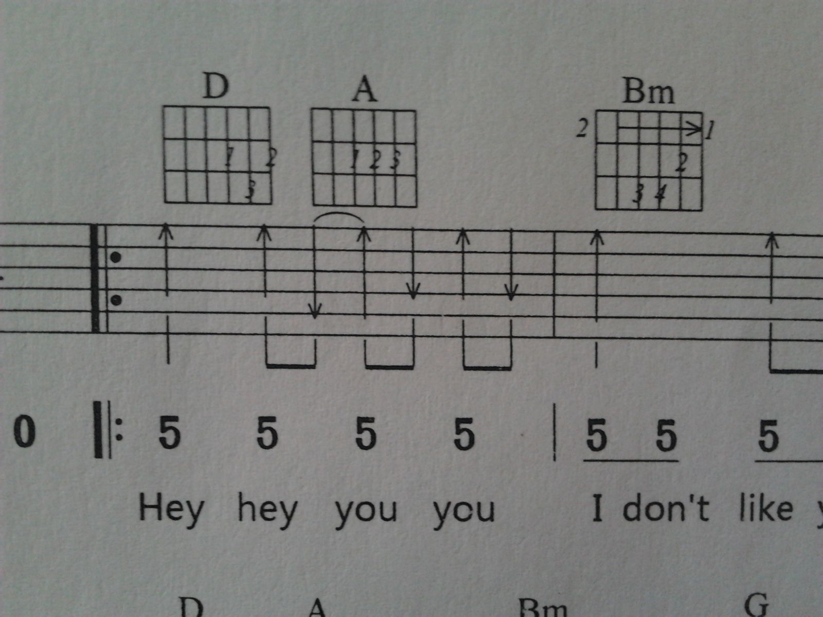 avril的女朋友吉他谱 那个上和下怎么用连音符号标记啊? 怎么弹?