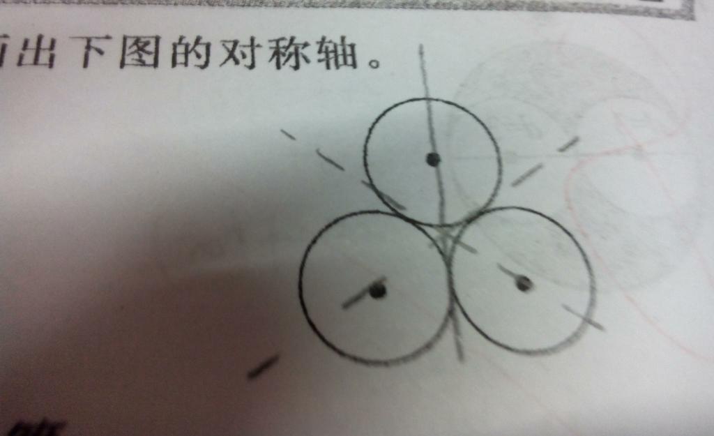 对称轴画虚线还是实线图片