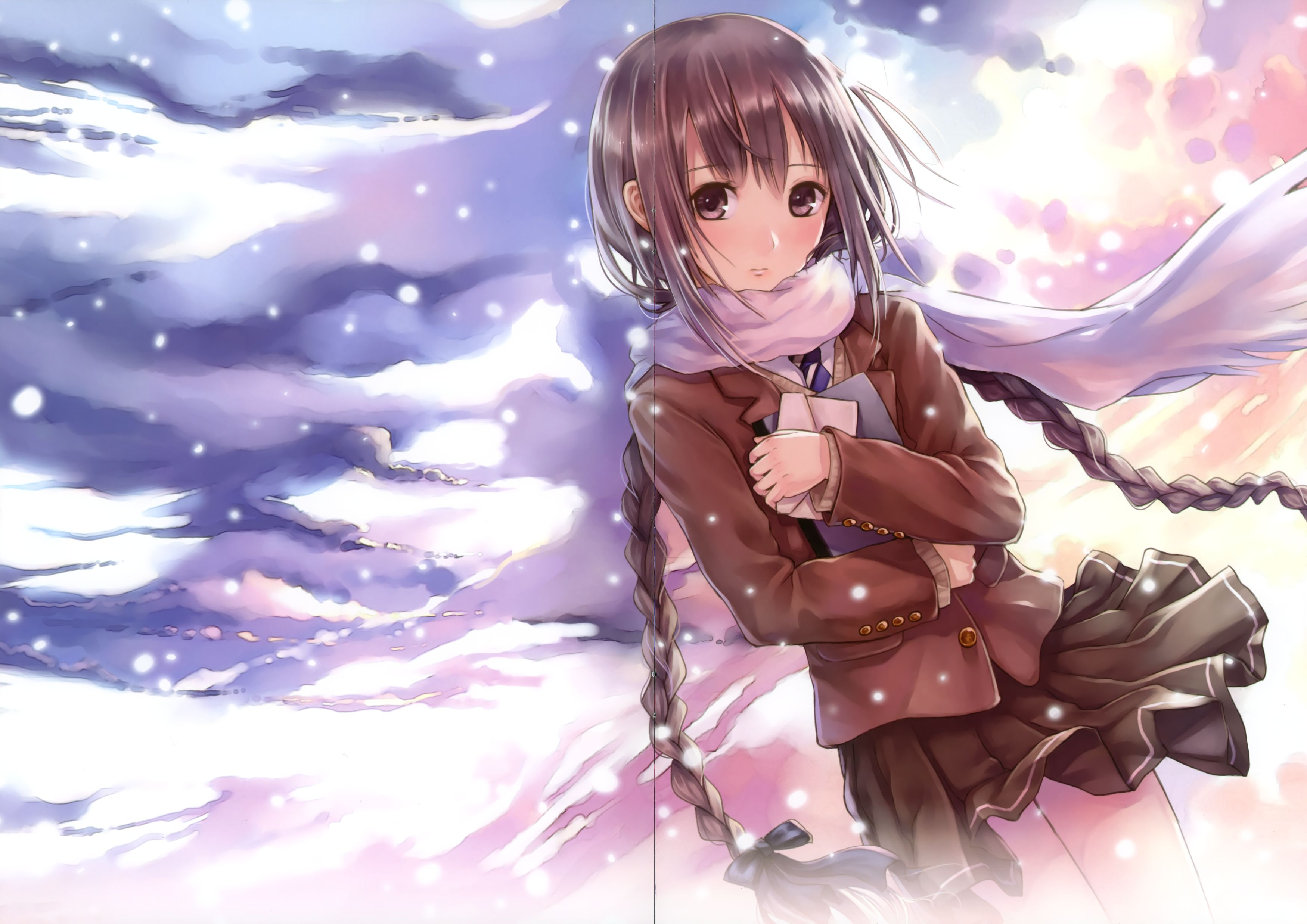 动漫美少女图片要梦幻一点的场景,可爱女生图片