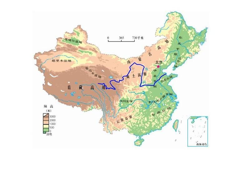 省级初中考长江中学行政区示意图,华西示意初中中国地理图片