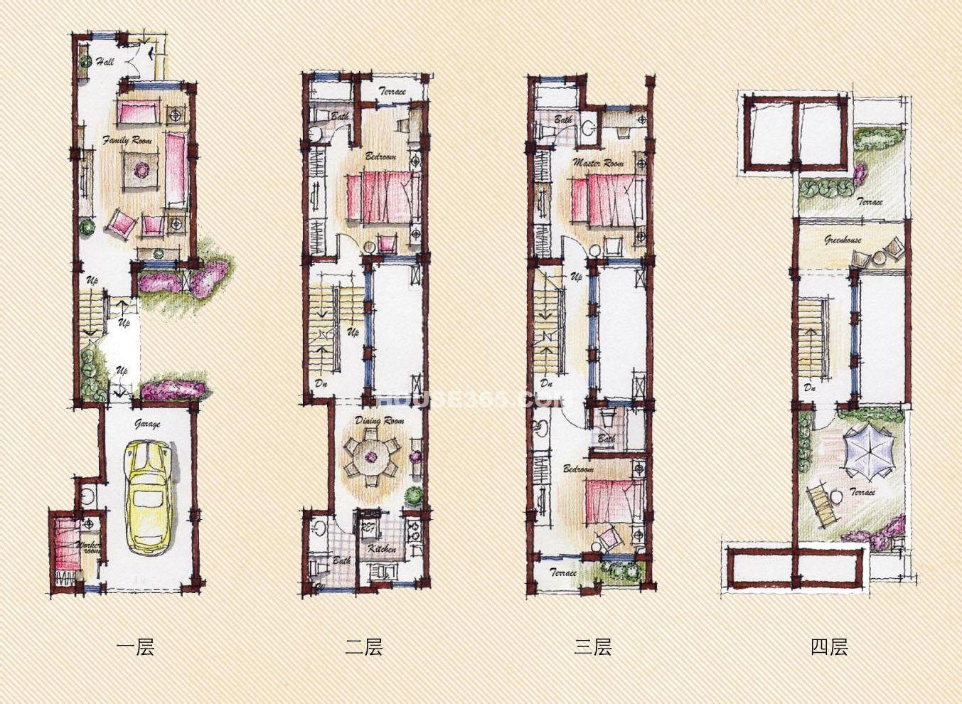 建筑设计一个平房,想要一些建议 听你的意思,感觉参考联排别墅的做法图片