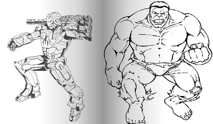 怎样画钢铁侠的简笔画?要简单,也不能太简单的.请大家
