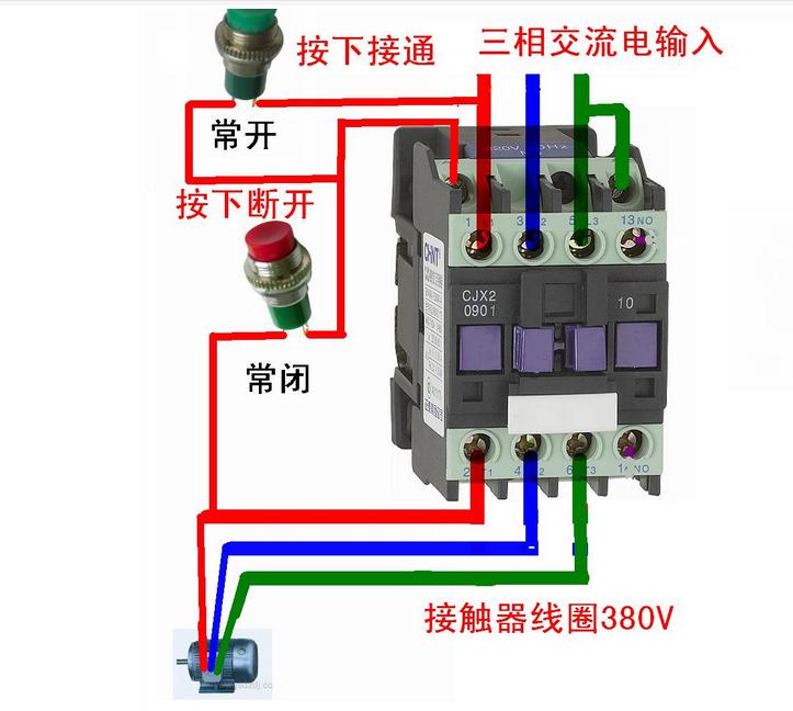 正泰电气cjx2-18双接触器接线图