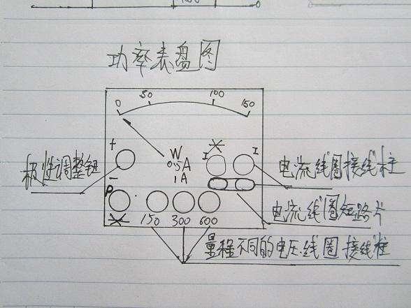 电工,三相负载的连接及测量,功率表接线问题?