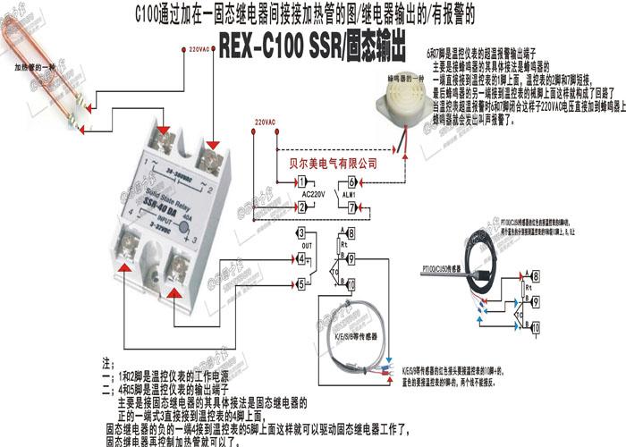 rex-c100温控器的接线图有些看不懂