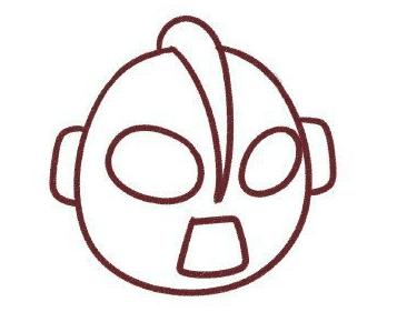 画奥特曼简笔画步骤3:画身体
