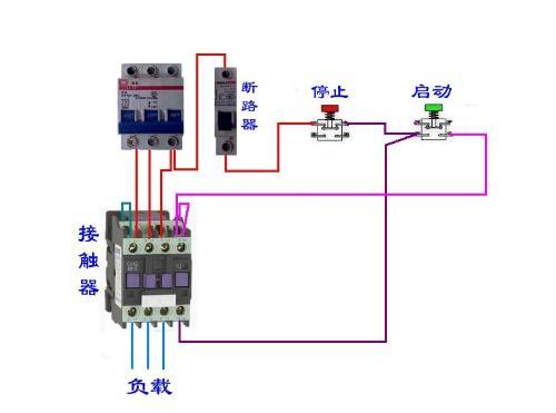 德力西cjx21210交流接触器自动开关接电机怎么接?