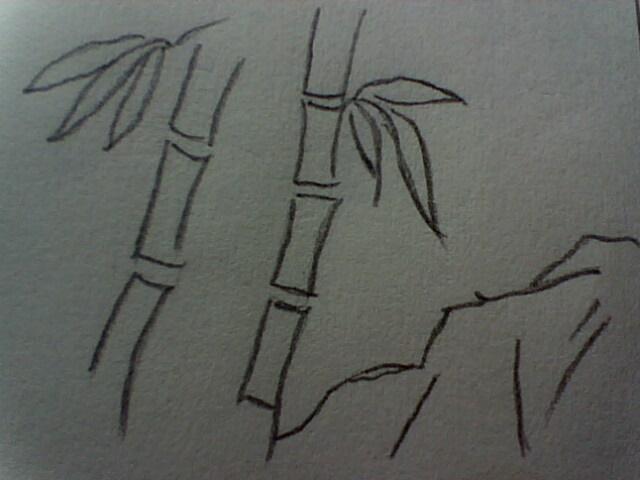 怎么画简笔画竹子