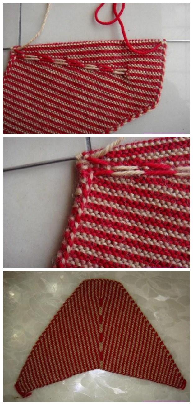 手工毛线棉鞋的编织方法及图案 红线配黑线好看不