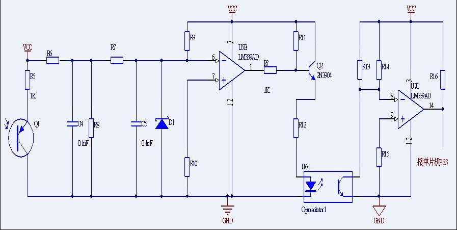 请问u2a的lm339ad是电压比较器,可以用作放大吗?