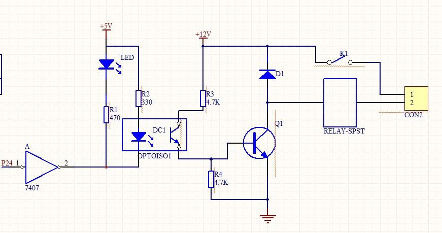 这个继电器驱动电路的原理,越详细越好