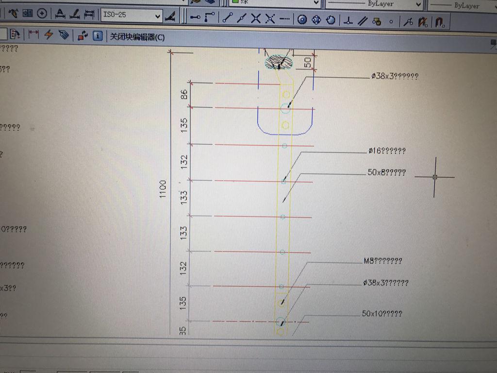 cad线条,块编辑器里部分文字无法显示2014cad设置粗细图纸图片