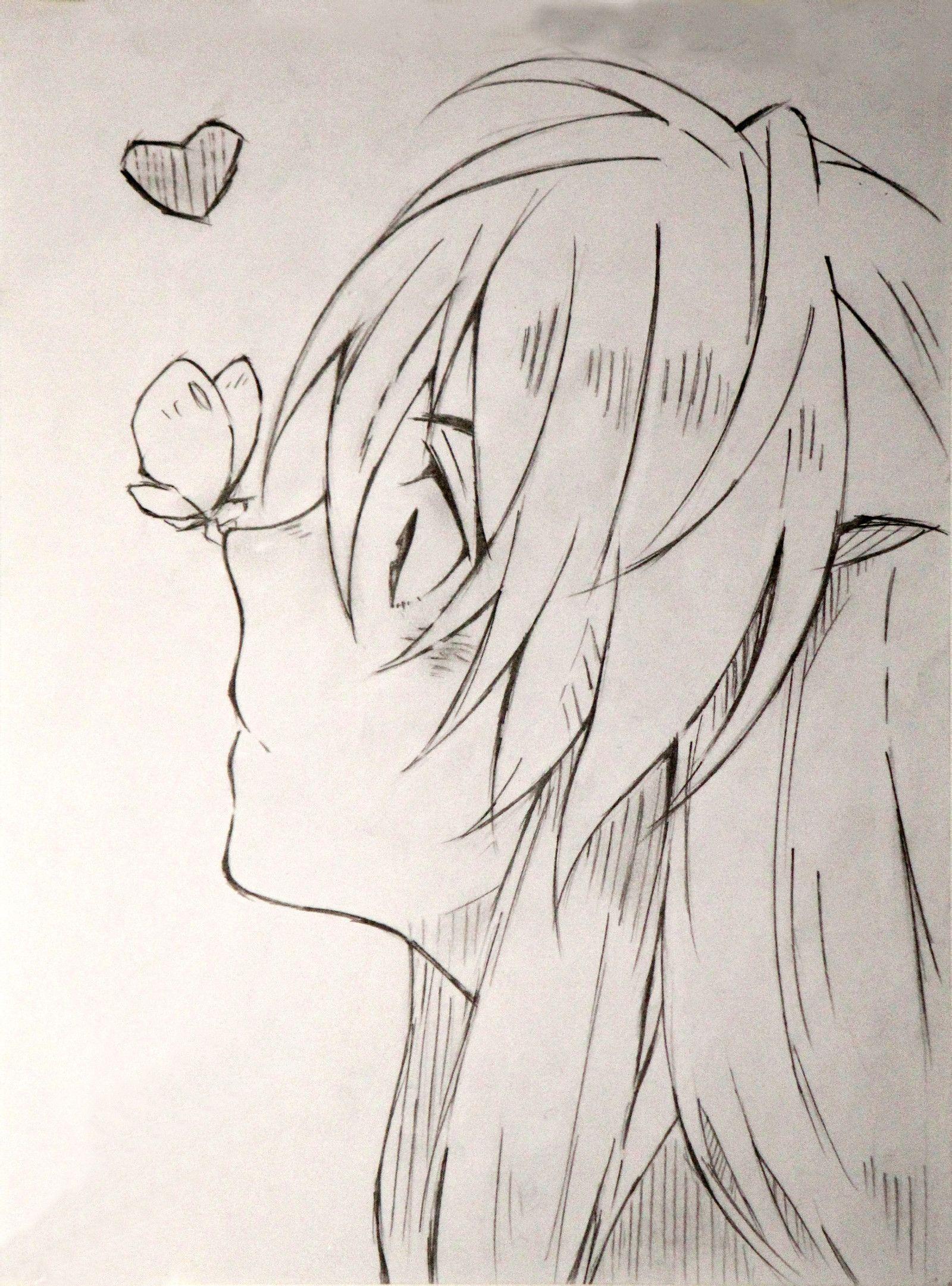 铅笔画简单男生