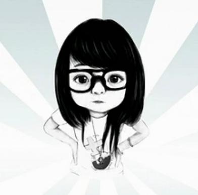 这个戴眼镜女生卡通头像是什么系列的?