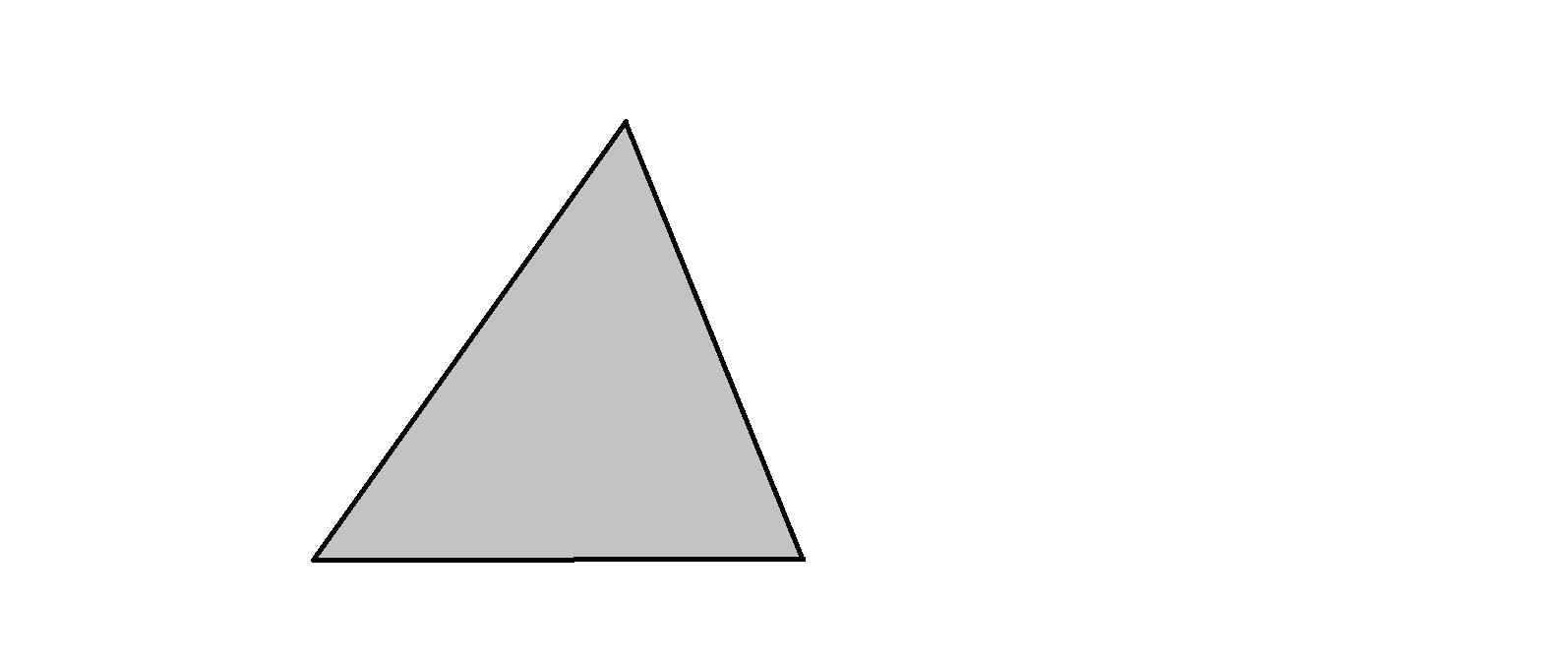 个三角形形状的地块,如果要将它平均分成4个部分,请在图上画出分割线.图片