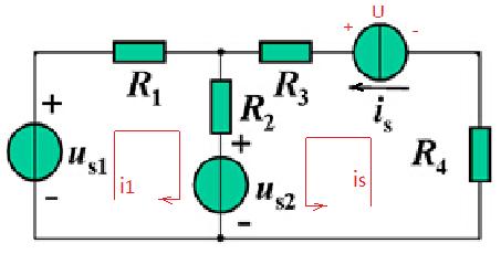 列写电路的回路电流方程和结点电压方程