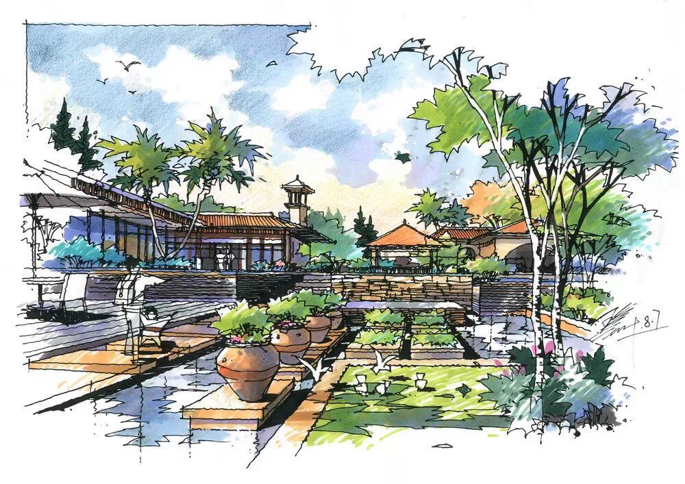 常州景观设计手绘培训班,常州江南绘暑假班几号开课的