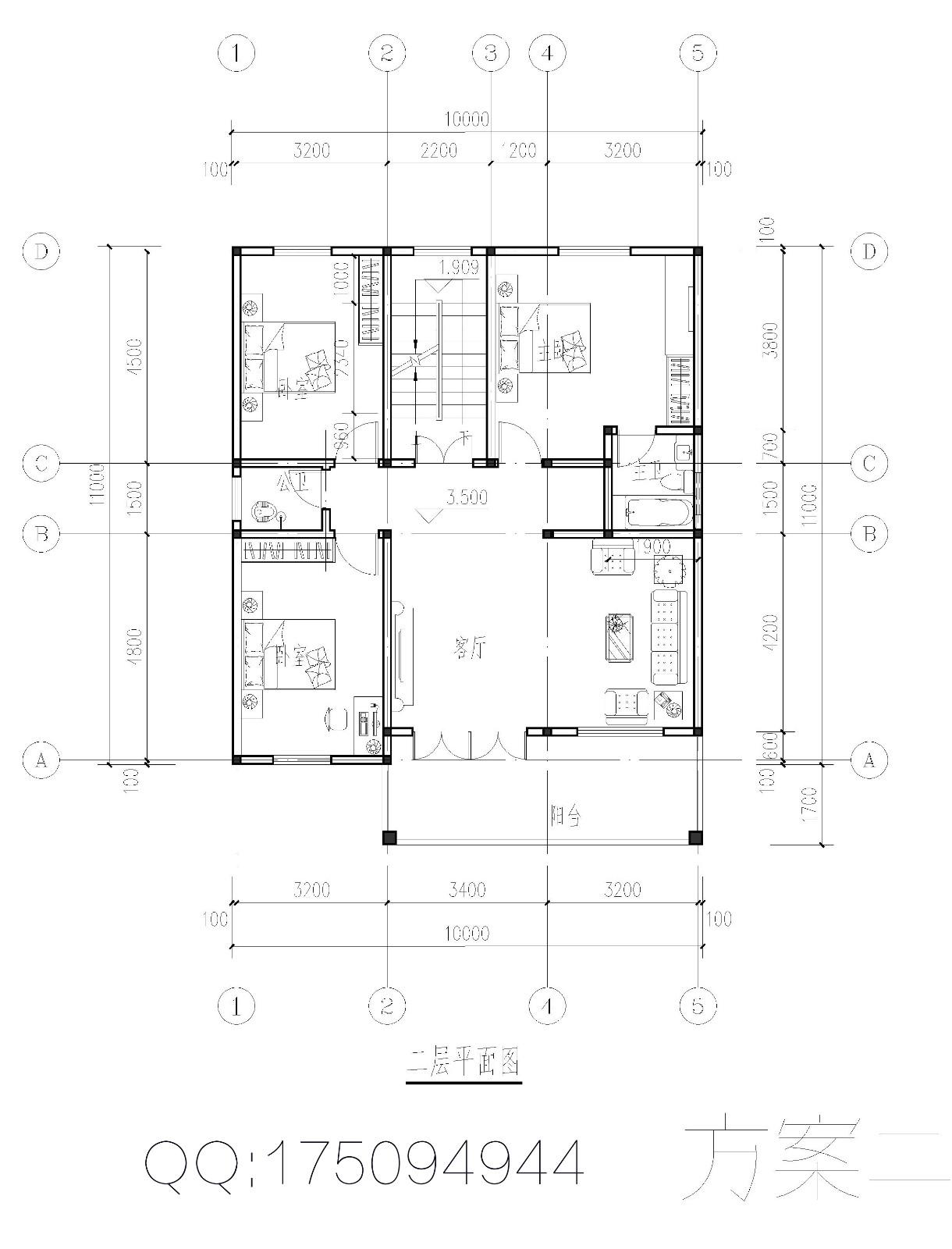 10米x10米房屋设计图