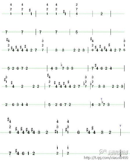 乐谱 曲谱 448_555 竖版 竖屏图片