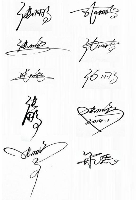 免費藝術簽名設計張鵬怎么寫圖片