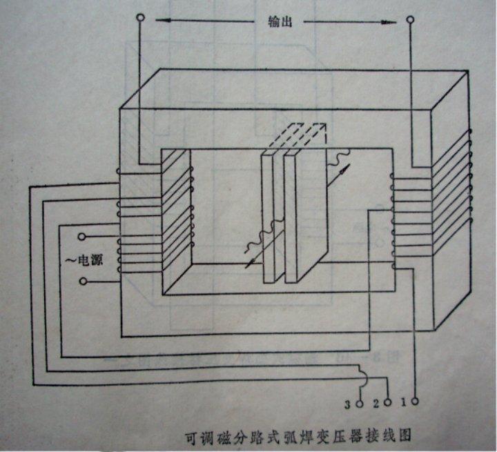求工业用的380v电焊机的接线图