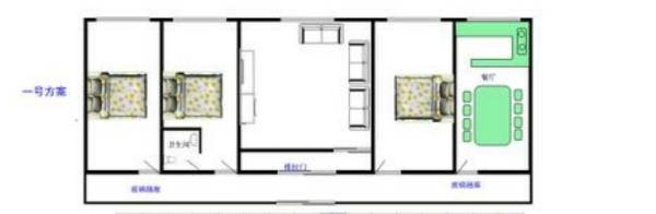 求这种农村带院平房的家装设计图还有院子的装饰建议图片