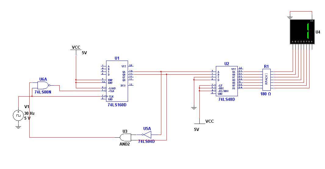 求大神:74ls160组成三进制计数器电路图 我是大二的学生 电路分析实验