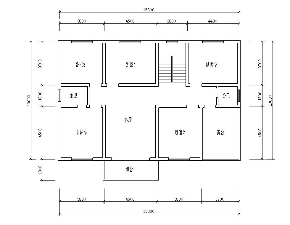 大师们帮忙看看下,我家准备自建房,这是我自己设计的房屋平面布局图