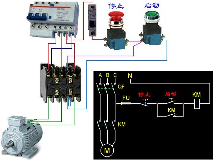 求cjt1-10交流接触器的接线方法