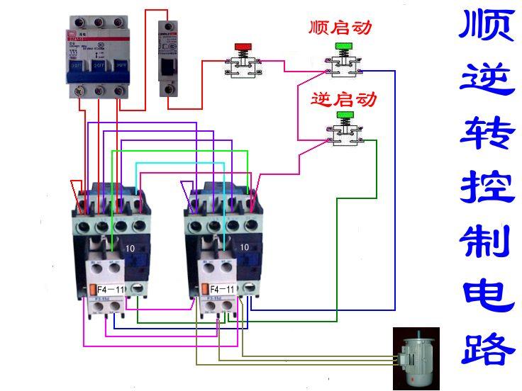 用两只交流接触器控制电动机正反转如何接线