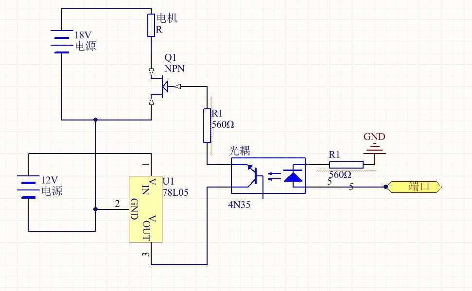 用光耦驱动mos管,控制电机的时候,mos管持续导通是什么原因(附电路图)图片