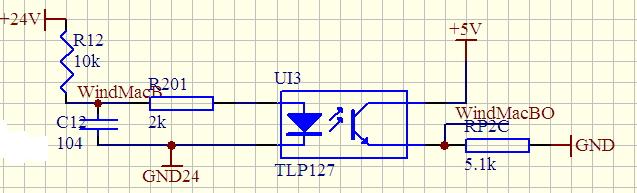 用 光耦 将12v 变成5v 要求 画出电路图