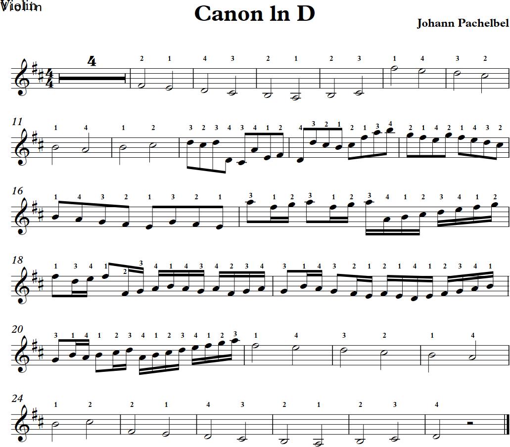 天空之城>和 卡农>的小提琴谱(要有指法的) 谢谢