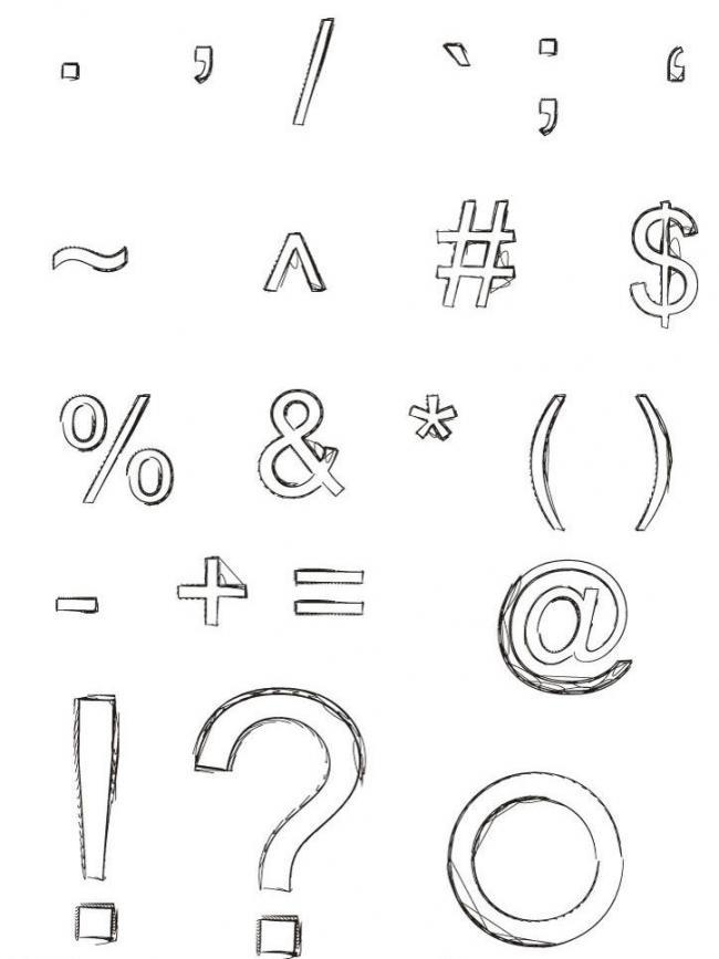 手绘数学符号简笔画
