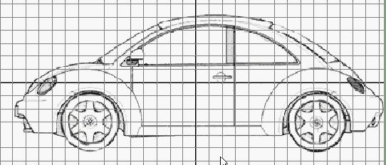 寻求汽车轮廓素描图片