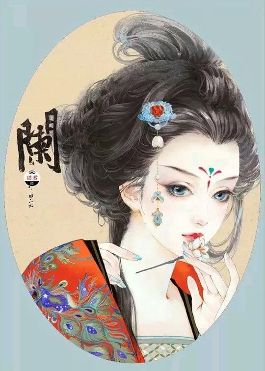 求古装美女图,类似水墨画的,像下面这种