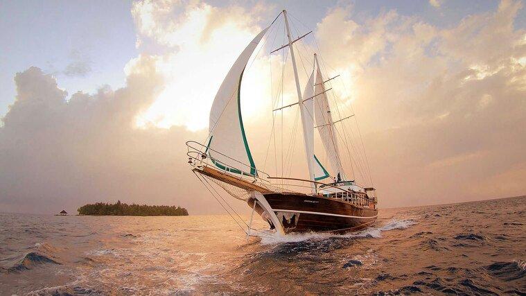 帆船圖片 古風 手繪