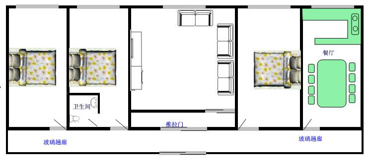 求图片:农村平房25米乘12米房屋设计图