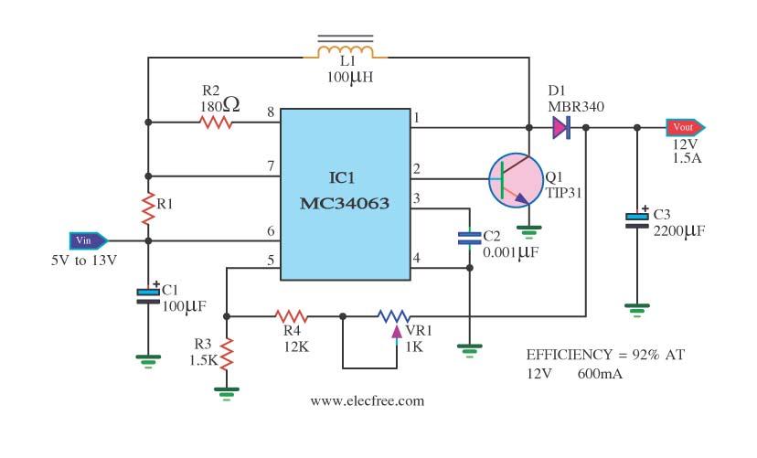 关于mc34063电路图