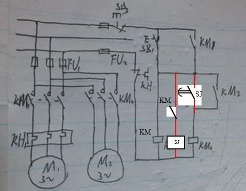 求该自动顺序启动控制电路图的接线图