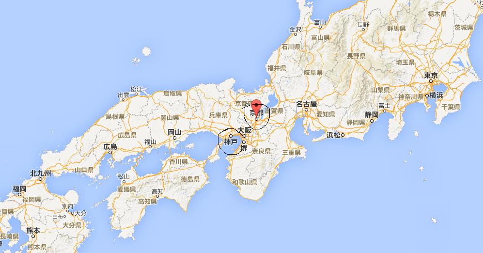 京都和神户都在哪里?