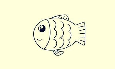 怎样简笔画小鱼而且还漂亮