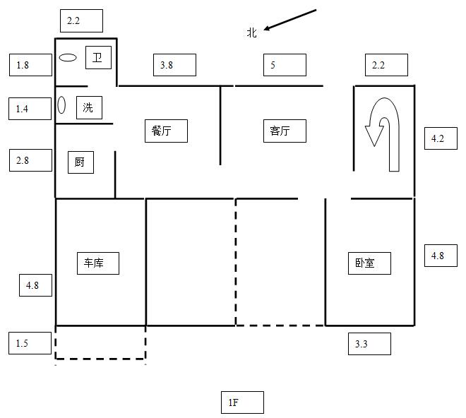 以下是设计图,房子建在农村.
