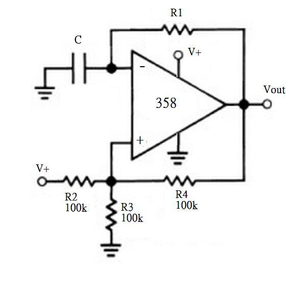 求lm358方波电路图