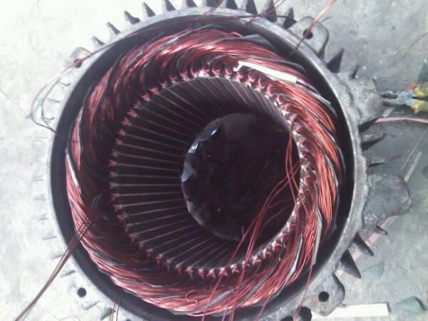 y160l……6----22kw----54槽~~电机怎么接头.接引线