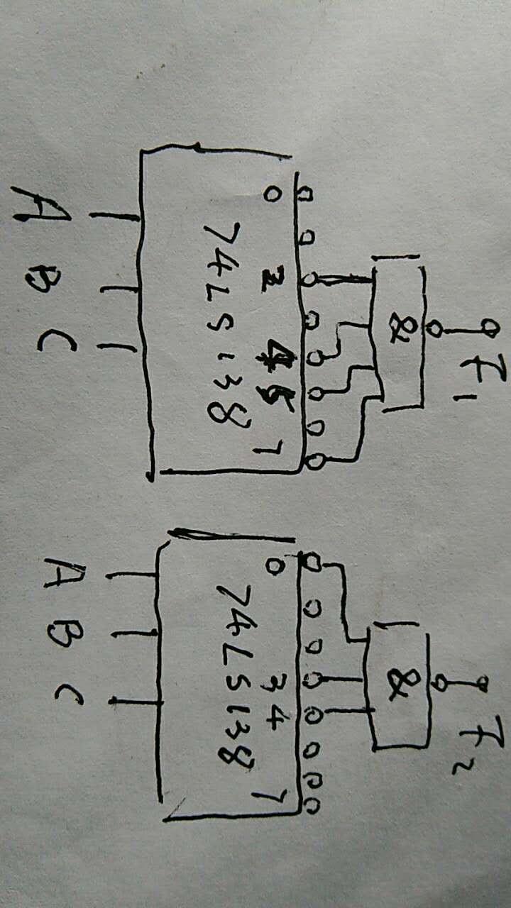 大学数字电子技术题目 用3线-8线译码器74ls138和与非门实现下列函数