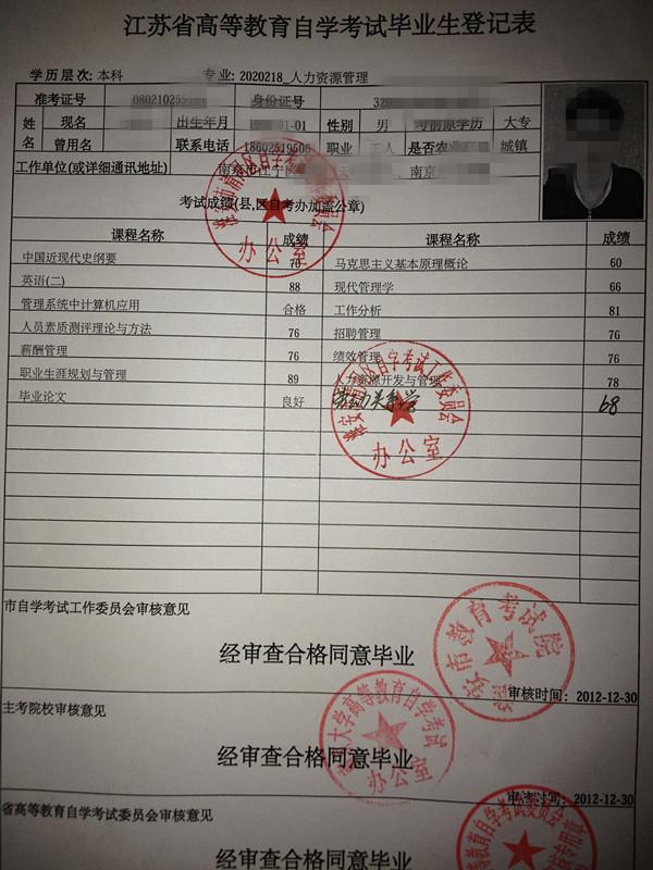 江苏自考本科档案管理问题